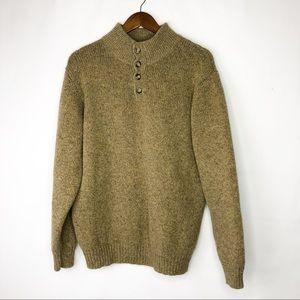 LL Bean Men's Wool Long Sleeve Sweater in XL